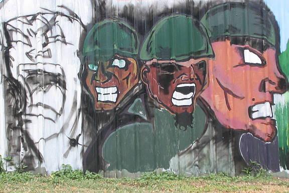 Wandmalerei in Papua-Neuguinea