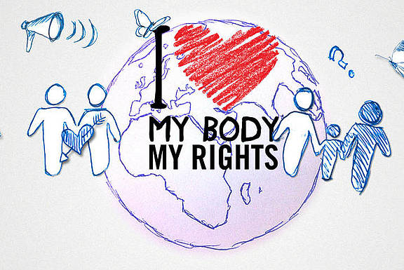 "Kampagne von Amnesty International zu ""My body, my rights"""