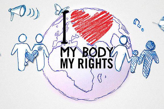"""Kampagne von Amnesty International zu """"My body, my rights"""""""