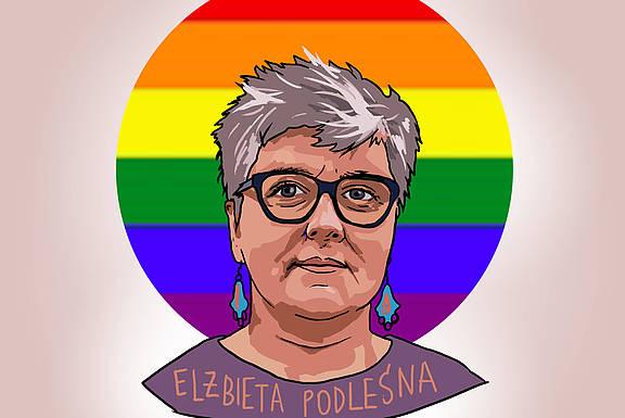die polnische Menschenrechtlerin Elżbieta Podleśna