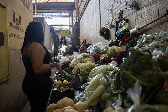 Cristel auf einem Markt in Tapachula, Mexiko