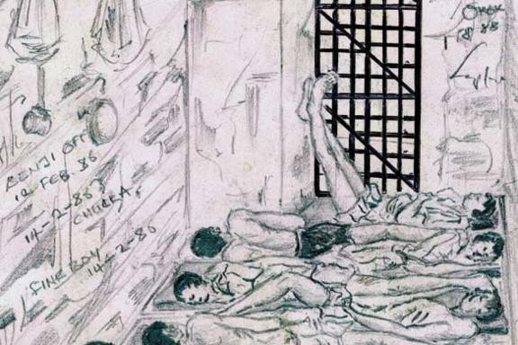 Zeichnung aus einem Gefängnis in Nigeria