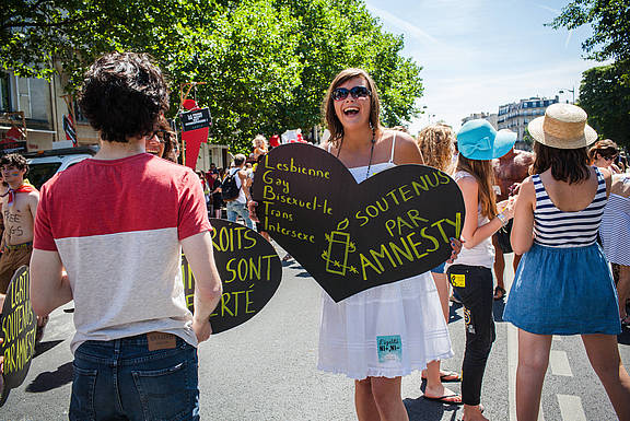 """Marche des fiertés"" (Gay Pride) in Paris 2015"