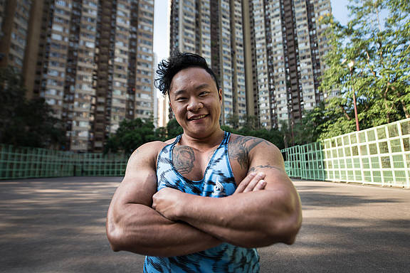 Siu-fung Law, 27 Jahre alte/r (Stand November 2017) Bodybuilder_in aus Hong Kong