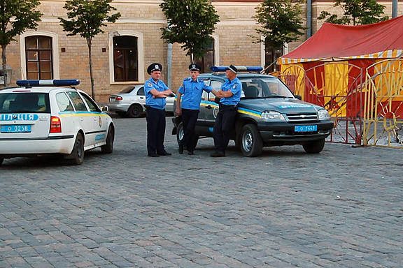 Polizeieinsatz in Charkiw, Ukraine