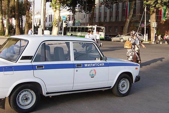 Polizeiwagen in Tadschikistan