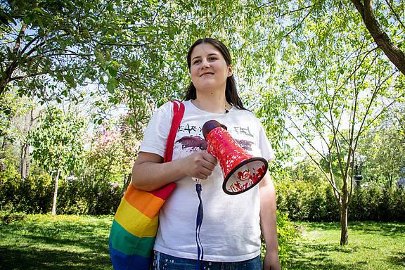 LGBTI-Aktivistin Vitalina Koval aus der Ukraine