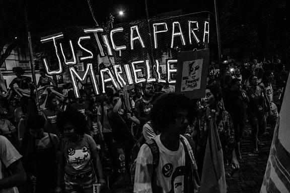 Demonstration am 14.04.2018 in Rio de Janeiro für die Aufklärung der Morde an Marielle Franco und Anderson Gomes © Lucas Jatobá/ Amnesty International Brazil