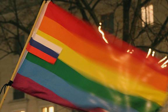 Solidaritätsveranstaltung für Lesben und Schwule sowie LGBTI-Rechte in Russland