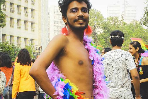 Teilnehmer beim Delhi-Pride 2015, © Alina Maria Tiphagne