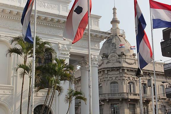 Regierungsviertel in der paraguayischen Hauptstadt Asunción