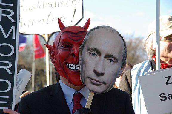 Proteste gegen Menschenrechtsverletzungen in Russland