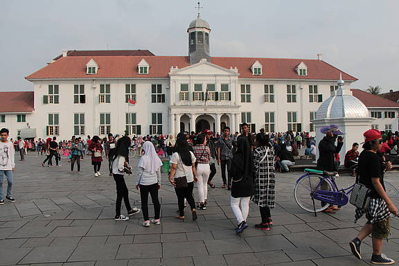 Altes Rathaus in Jakarta, Indonesien
