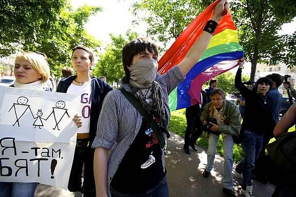 Gay-Pride-Parade St. Petersburg, Mai 2010, © Charles Meacham/Demotix
