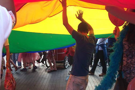 Gay Pride March in Istanbul, Türkei 2011