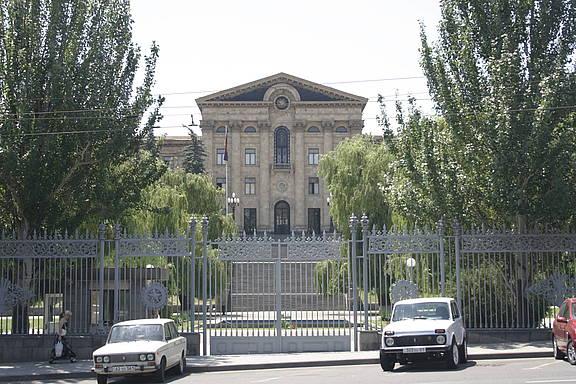 Armenisches Parlament in der Hauptstadt Yerevan
