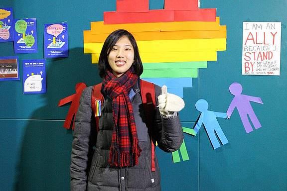 J, eine lesbische Frau in Südkorea