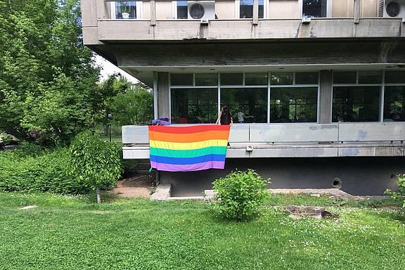 Universitätsgebäude beim erfolgreichen Gay Pride an der METU 2018