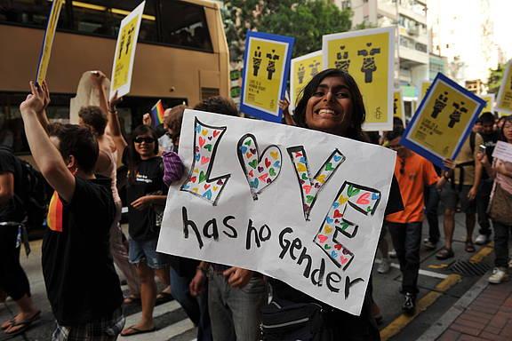 Hong Kongs zweiter Pride-Umzug im Jahr 2009
