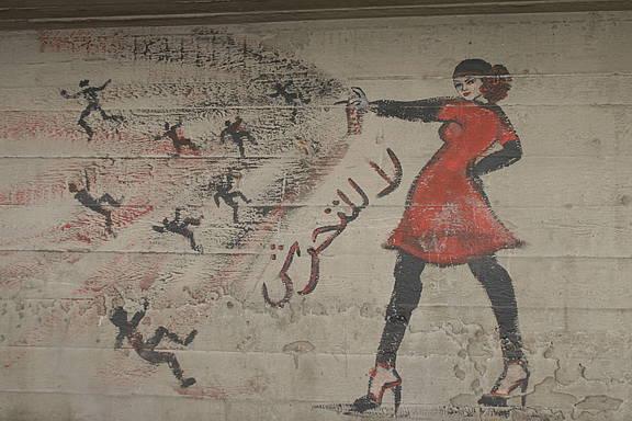 Graffiti gegen sexuelle Belästigung in Kairo, 24. September 2012
