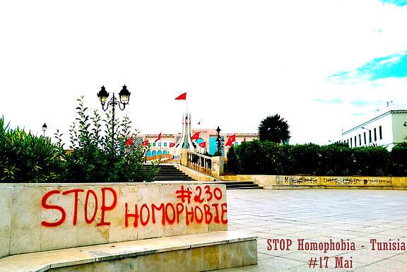 Graffiti in der tunesischen Hauptstadt Tunis