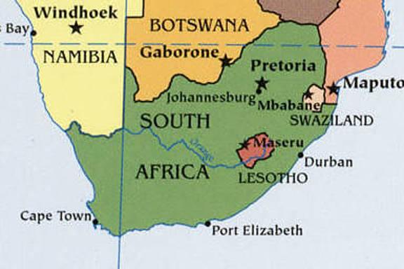 Karte Süd-Afrika