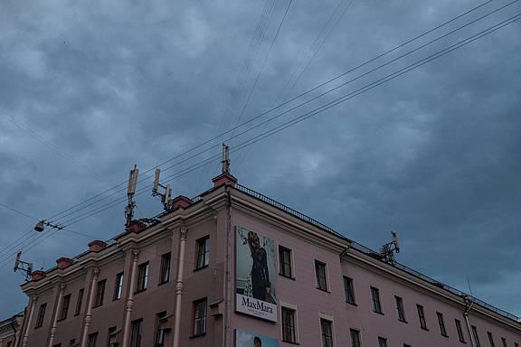 Überwachungskameras in der belarussischen Hauptstadt Minsk