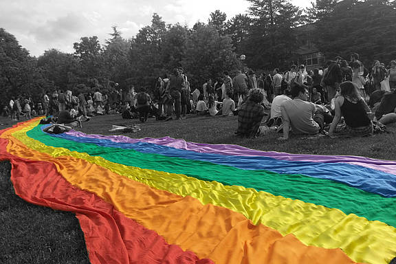 Gay Pride an der Ankara METU Universität 2018