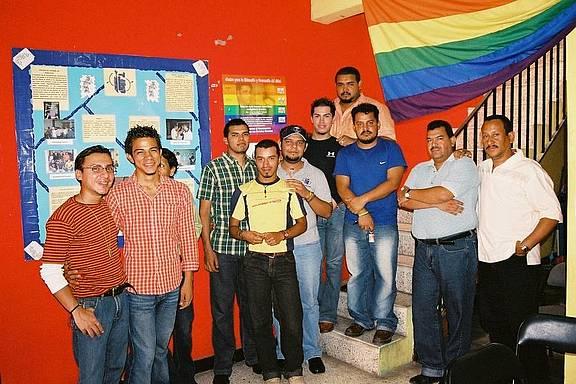 Vertreter der LGBT-Organisationen Colectivo Violeta and Asociación Kukulcan