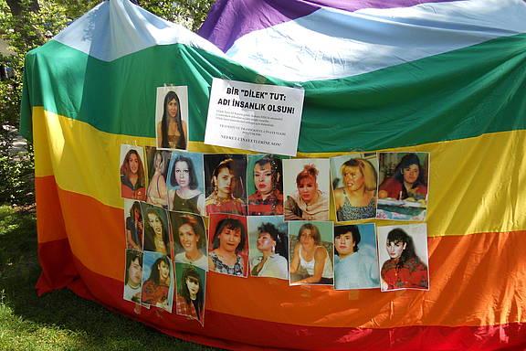 Veranstaltung gegen Homophobie an der Universität von Ankara, Türkei, 6. Mai 2010