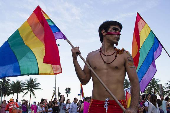 Demonstration gegen die LGBTI-feindliche Politik in Russland