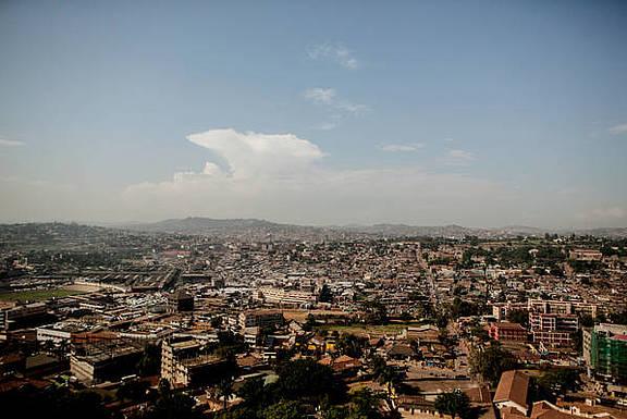 Stadtzentrum von Kampala, Uganda