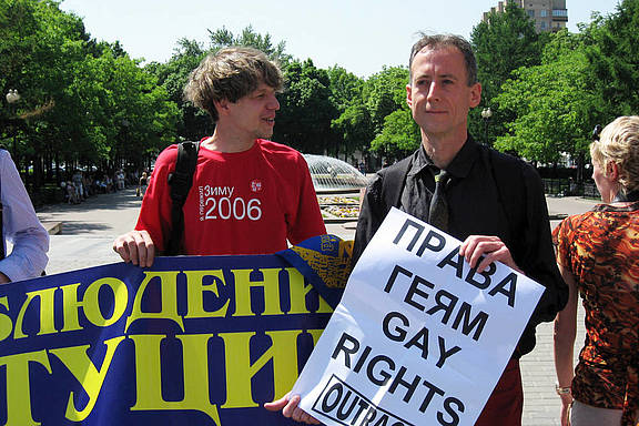 Moskau LGBT-Demonstration