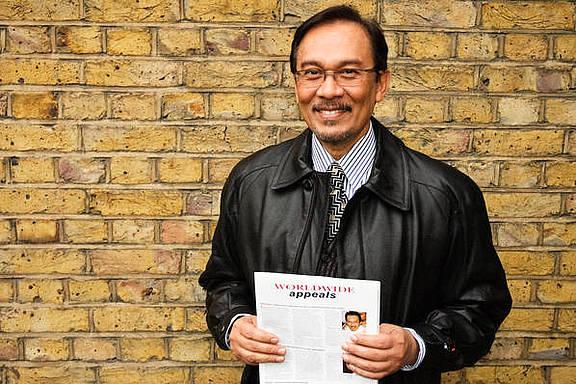 Anwar Ibrahim, politischer Gefangener und früherer Vize-Premier-Minister von Malaysia